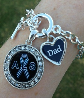 My new charm bracelet in memory of Dad and his ALS.